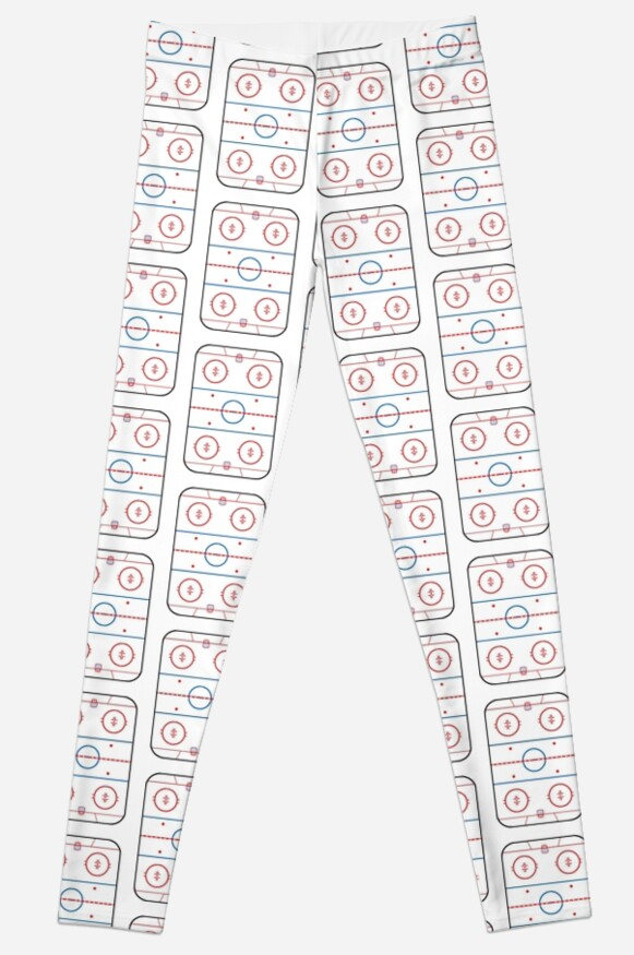 Ice Rink Diagram Hockey Game Companion Leggings By Garaga Redbubble