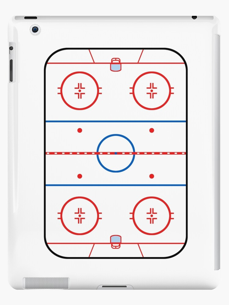 Ice Rink Diagram Hockey Game Companion Ipad Cases Skins By Garaga