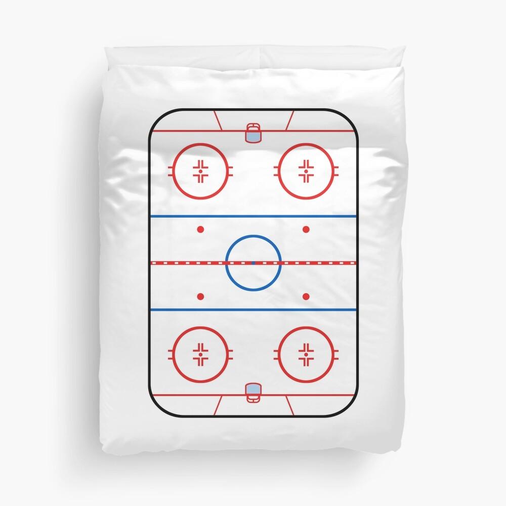 Ice Rink Diagram Hockey Game Companion Duvet Cover