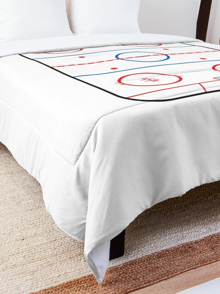 Alternate view of  Ice Rink Diagram Hockey Game Companion Comforter