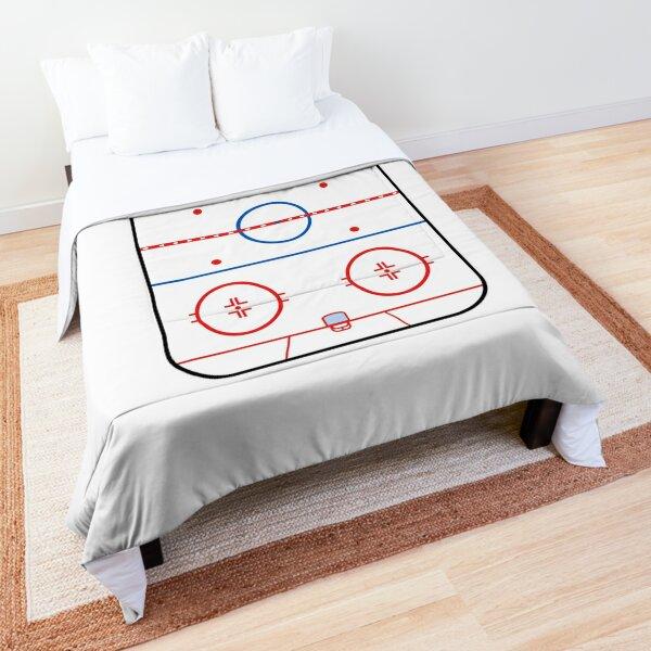 Ice Rink Diagram Hockey Game Companion Comforter