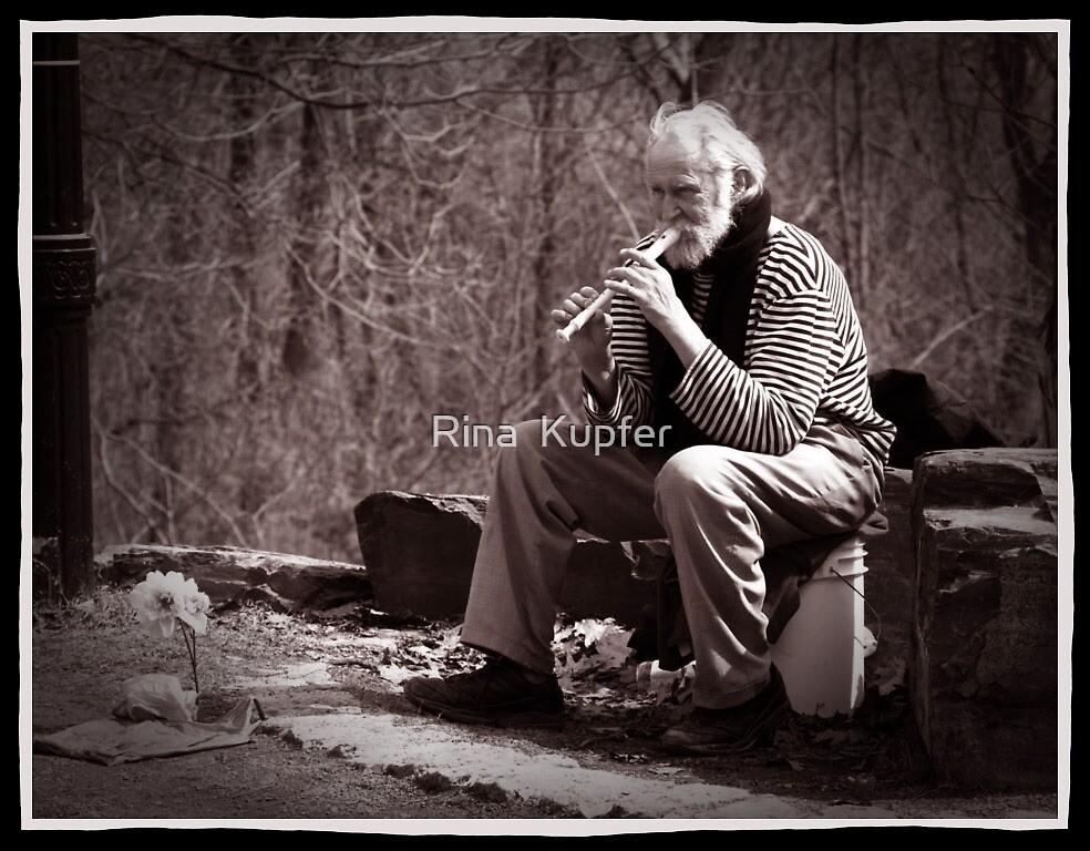The flautist by Rina  Kupfer