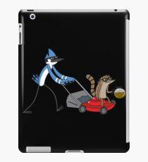 mordecai and rigby coffee iPad Case/Skin