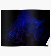 Abstraction of Blue Poster