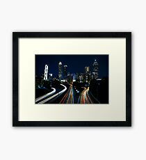 Atlanta City Skyline  (Night)  Framed Print