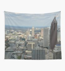 Atlanta Daytime Skyline  Wall Tapestry