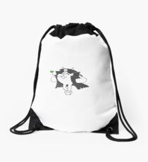Angry Delinquent Cat Battle Cats Drawstring Bag
