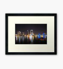 Jacksonville Skyline (Night Time) Framed Print