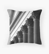 Customs House Columns No. 2 Throw Pillow
