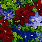 Morning Clematis by Sharen Chatterton