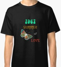 1967 Summer of Love Colorful Hippie Butterfly Shirt Classic T-Shirt