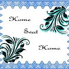 Home Sweet Home - Duvet, Pillow, Tote bags Wall Tapestry and more by ©Josephine Caruana