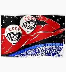 Sowjetisches Raumfahrtprogramm Poster