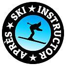 Après-Ski Instructor Skier by theshirtshops
