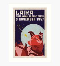 Laika - Space Dog Art Print