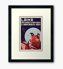 Laika - Space Dog Framed Print