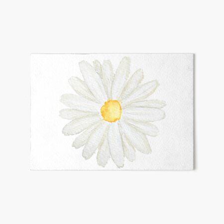 one little white  daisy watercolor  Art Board Print