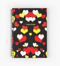 I Love Mickey Spiral Notebook