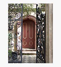 Charleston Door & Iron Gate Photographic Print