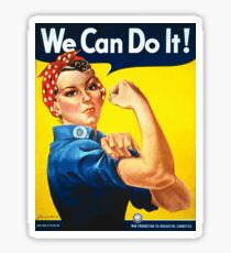 We Can Do It! Rosie the Riveter Vintage Poster Sticker