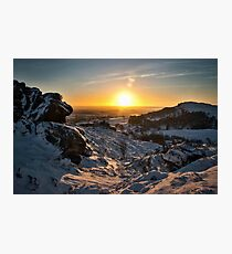 Snow at the Roaches Photographic Print