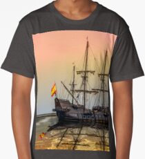 Sail Boston -El Galeon Andalucia Long T-Shirt