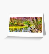 The Stepping Stones - Box Hill - Orton  Greeting Card