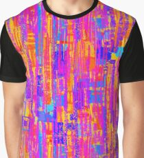 Vibrant Abstract Pattern Graphic T-Shirt