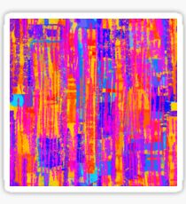 Vibrant Abstract Pattern Sticker