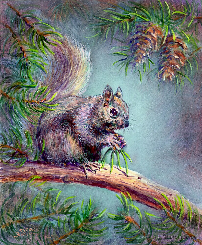 BUSY SQUIRREL by SHARON SHARPE by sharonsharpe