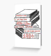 Haruki Murakami Book Stack Greeting Card