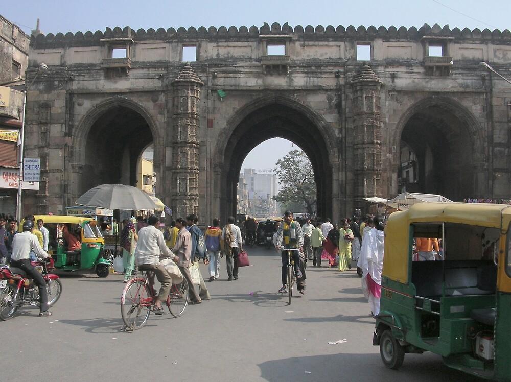 """The three gates "" street of Ahmedabad city by nisheedhi"