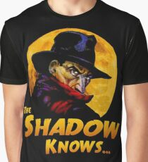 The Shadow Knows Graphic T-Shirt