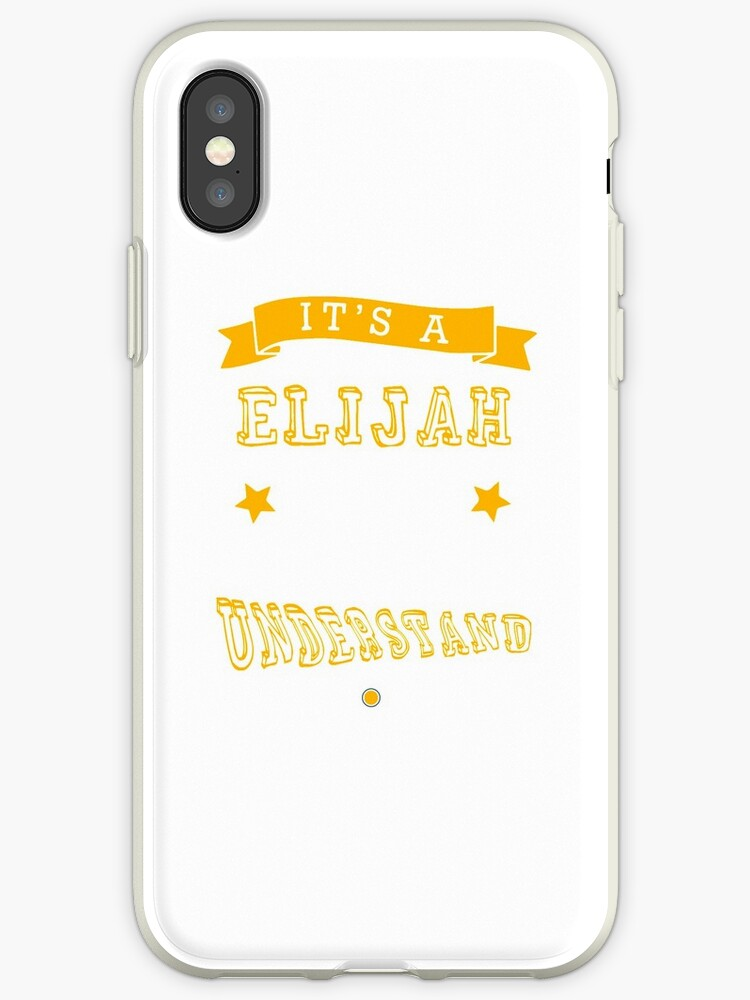 on sale ccc12 7f419 'Name shirt custom design for - Elijah' iPhone Case by joehungli