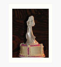 The cake Art Print