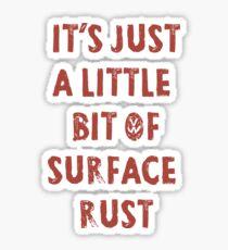 Surface Rust - Restoring VWs Sticker