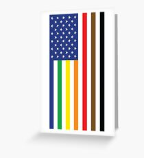 Gay Pride Intersectional Flag Greeting Card