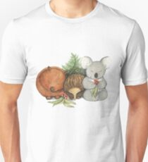 Native Australian Animal Babies – With Koala, Wombat And Echidna Unisex T-Shirt