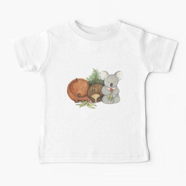 Native Australian Animal Babies – With Koala, Wombat And Echidna Baby T-Shirt
