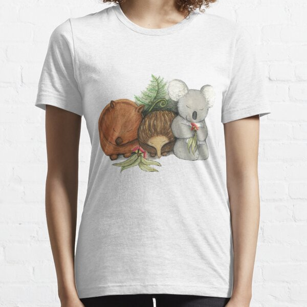 Native Australian Animal Babies – With Koala, Wombat And Echidna Essential T-Shirt