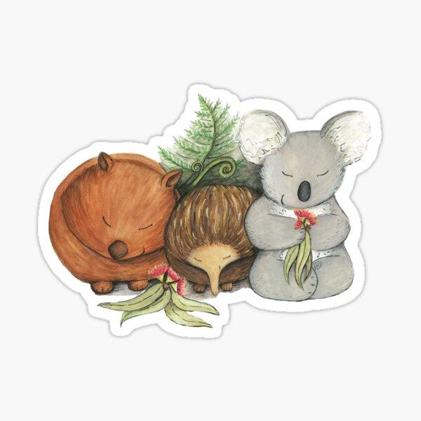 Native Australian Animal Babies – With Koala, Wombat And Echidna Sticker