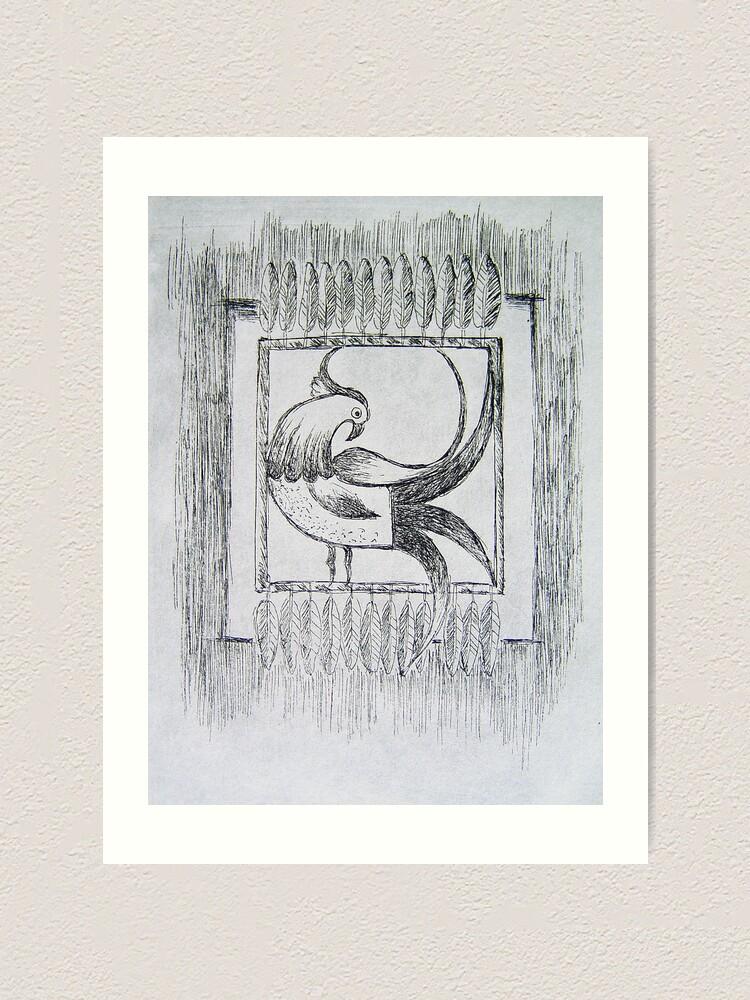 Alternate view of Mirrored Paradise Bird Art Print