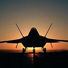 Silhouette eines Raptors F-22 von StocktrekImages