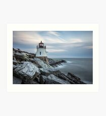 Castle Hill Lighthouse at Sunset Art Print