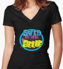 Saved by the Belle Women's Fitted V-Neck T-Shirt