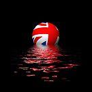 Union Jack rising/setting. by stuwdamdorp