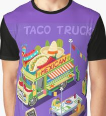 Food Truck Mexican Taco Graphic T-Shirt