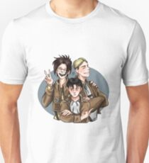 Hanji, Erwin and Levi welcome you to the Survey Corps! T-Shirt