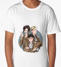 Hanji, Erwin and Levi welcome you to the Survey Corps! Long T-Shirt