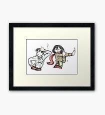 Mikasa and Levi - Ackerman Style! Framed Print